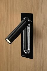 Led Tube - applique Led noire. Marset.