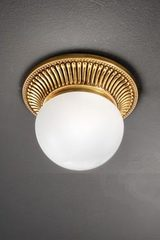 Small round gold ceiling light. Masiero.