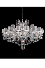 24 lights chandelier in chromed metal. Masiero.
