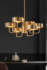 Contemporary 6-light chandelier Sound. Masiero.