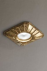 Small recessed spot in antique brass. Masiero.