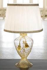 Gold Murano glass table lamp. Masiero.