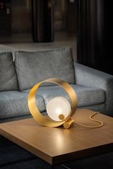 Sound round table lamp. Masiero.