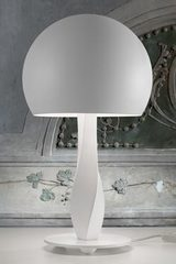 Twisted white table lamp and cupola Botero . Masiero.