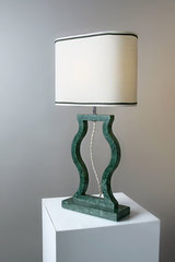 Lampe en marbre vert Guatemala collection Classic . Matlight.
