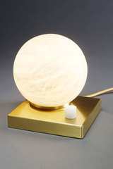 Moons table lamp marble ball Carrara