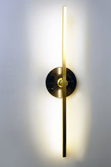 Essential golden and black marble wall lamp