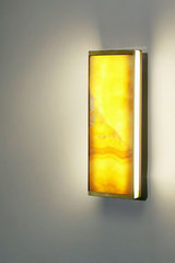 Yellow onyx wall lamp TECH small model 30cm