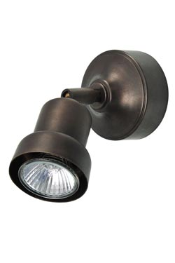 Spot orientable en laiton antique. Moretti Luce.