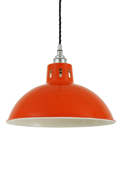 Suspension coupole en aluminium orange Osson. Mullan.