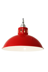 Suspension rouge style industriel Osson. Mullan.