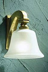 Bell Light 12 V applique bronze poli. Nautic by Tekna.