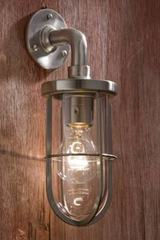 Docklight Wall applique en bronze nickelé mat verre clair. Nautic by Tekna.