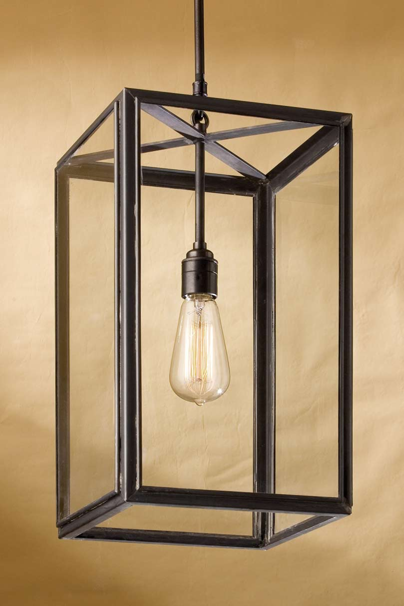 Ilford antique bronze and clear glass pendant. Nautic by Tekna.