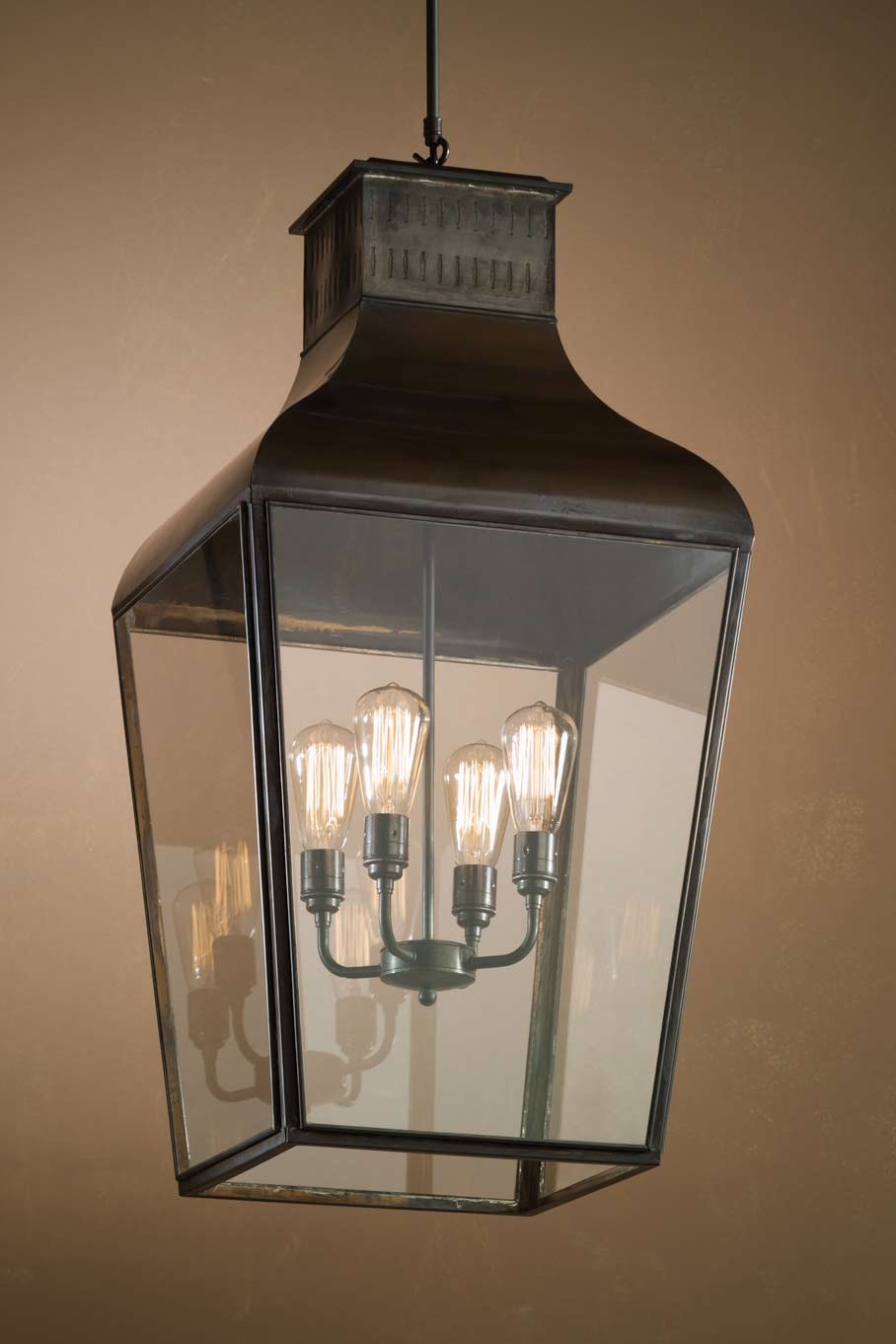Suspension pagode en bronze Montrose Large Pendant. Nautic by Tekna.