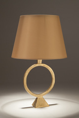 Gilt bronze table lamp foot with a wide ring Sonia. Objet insolite.
