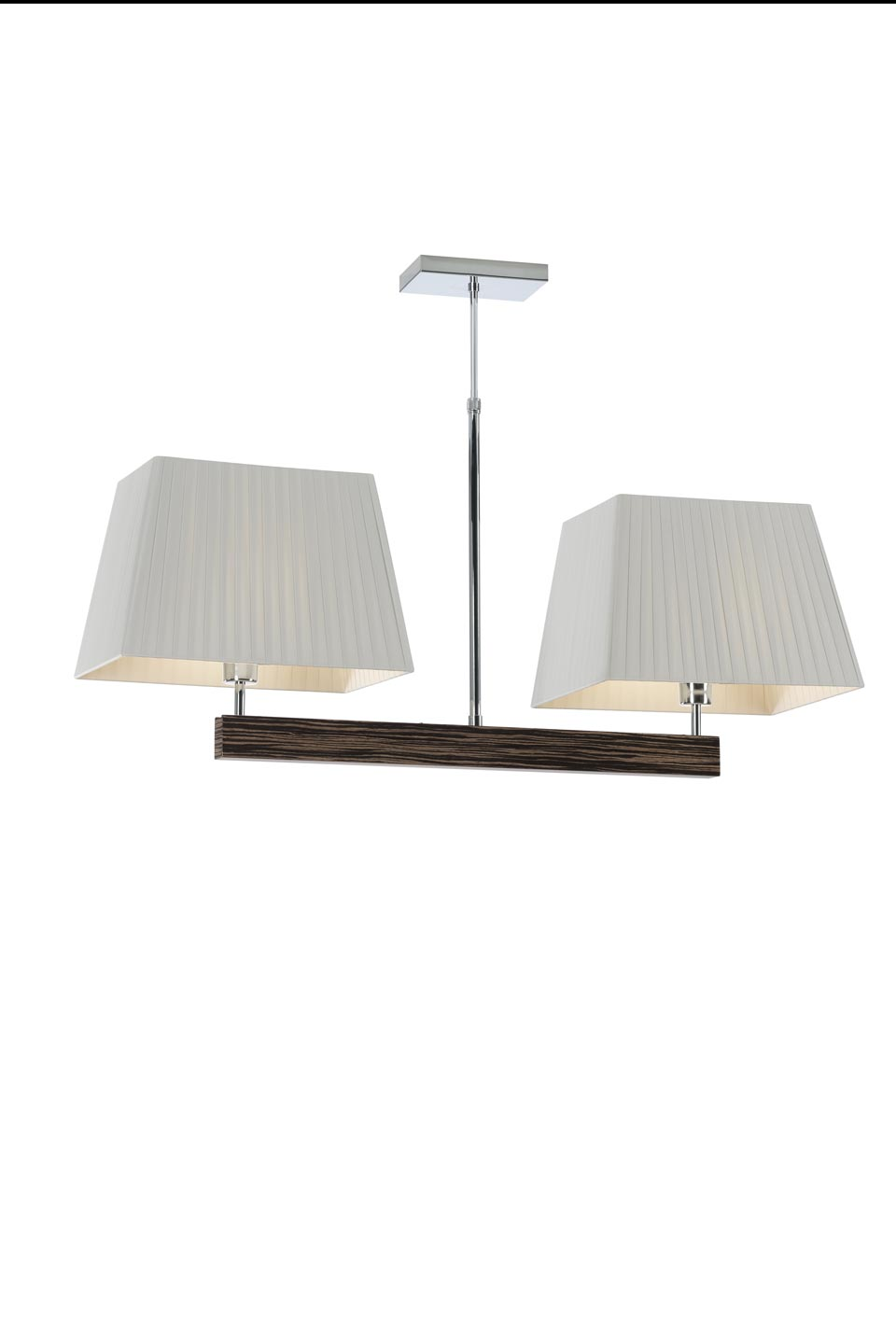 Suspension double Smooth II en bois d