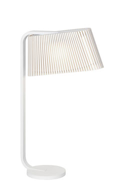 Owalo lampe de table ou de chevet blanche . Secto Design.