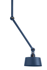 Blue industrial design ceiling lamp in grained steel Bolt. Tonone.