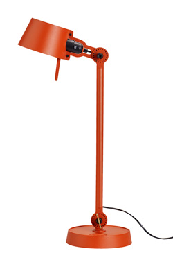 Large Bolt Desk lamp with one arm only, and a steel base. Orange.. Tonone.