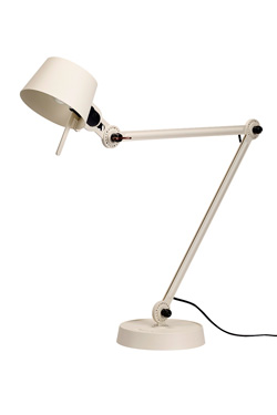 Desk lamp with two arms, in crème metal Bolt Desk. Tonone.