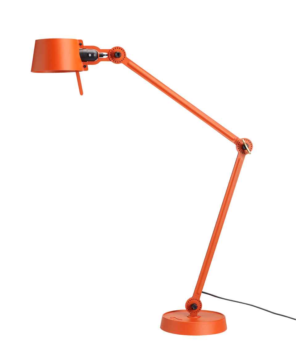 Desk lamp with two arms, in orange metal Bolt Desk . Tonone.