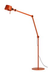 Grand lampadaire orange style atelier en acier grainé. Tonone.