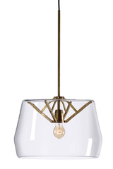 Large Atlas suspension with clear glass shade. Tonone.