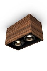 Mini spot 2 lights in rosewood 22x12cm. Trilum.