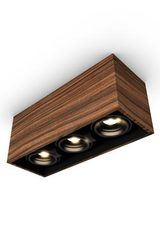 Mini spot 3 lights in rosewood 32x12cm. Trilum.