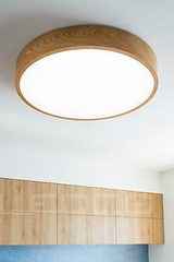 WoodLED Round round ceiling lamp in oak 60cm. Trilum.