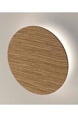 Roondy round wall lamp in oak wood 20cm. Trilum.