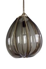 Bundle pendant in smoked glass. Vanessa Mitrani.
