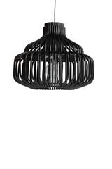 Endless pendant lamp in black rattan. Vincent Sheppard.
