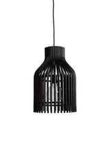Firefly pendant lamp in black rattan. Vincent Sheppard.
