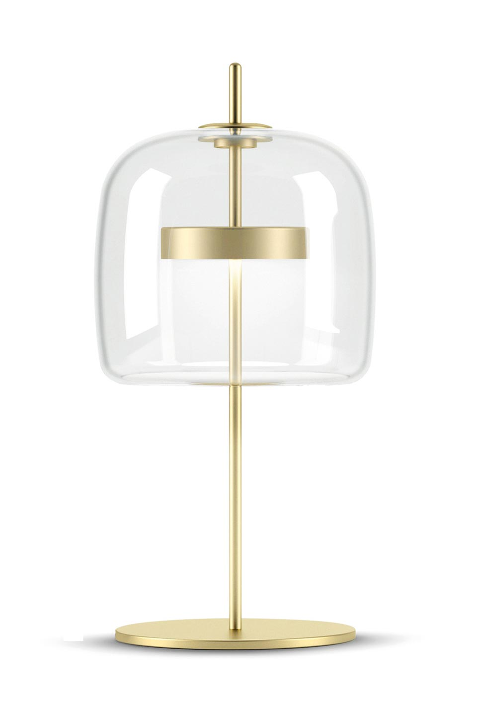 Jube petite lampe de table verre transparent. Vistosi.