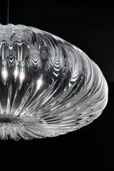 Diamante pendant in clear Murano glass 14cm. Vistosi.