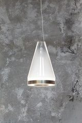 Medea conical pendant lamp in white glass. Vistosi.