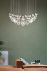 Square chandelier  Oto collection 17 lights. Vistosi.