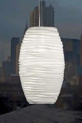 White Murano glass pendant lamp. Vistosi.