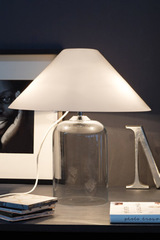 Table lamp with white Murano glass shade Alega LT. Vistosi.